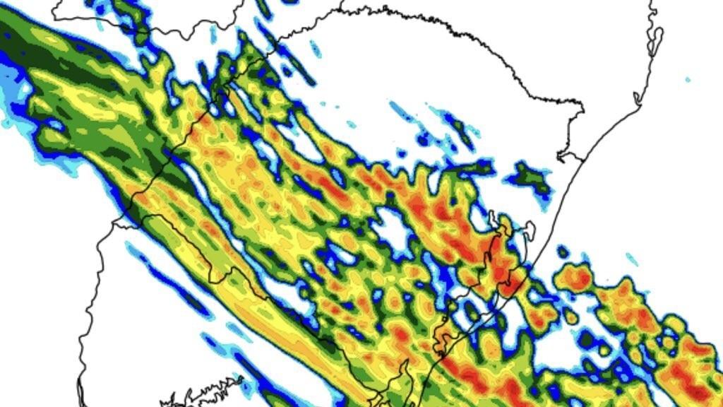 Frente fria avança pelo Rio Grande do Sul hoje com chuva