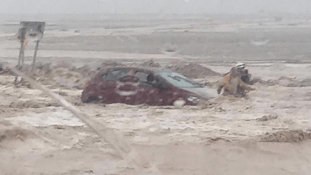 Atacama sofre com inundações, torrentes e temporais de raios