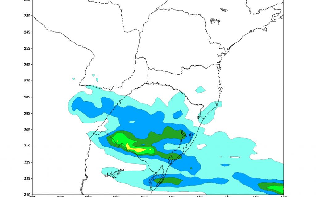 ***ATENÇÃO*** Evento de chuva volumosa no Rio Grande do Sul
