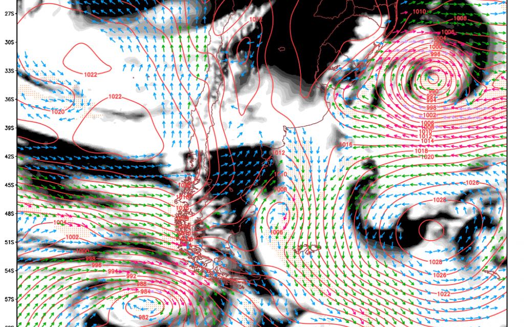 Análise – Ciclone, ventania, agitação marítima e onda de frio com geada ampla no Sul do Brasil