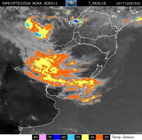 Risco de chuva forte e temporais nas próximas horas