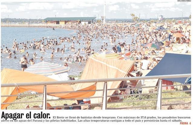 Onda de calor – 45,5ºC na Argentina e Rio Grande do Sul vai a 40ºC
