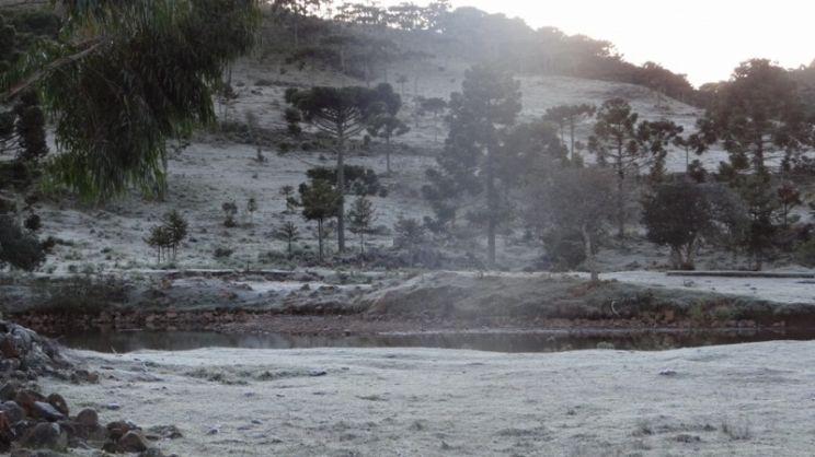 Sul abaixo de zero tem 6,8ºC negativos após primeira neve do ano
