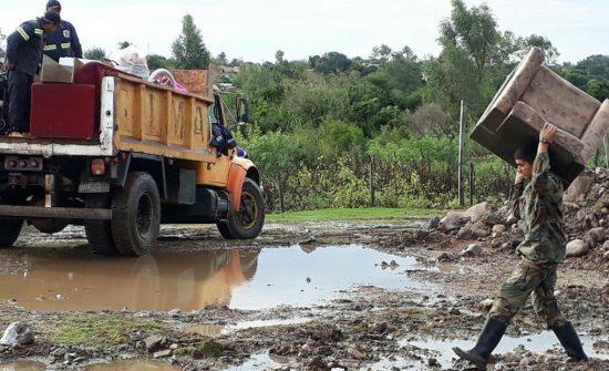 Chuva volta forte às áreas castigadas por inundações