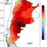 Calor histórico na Patagônia