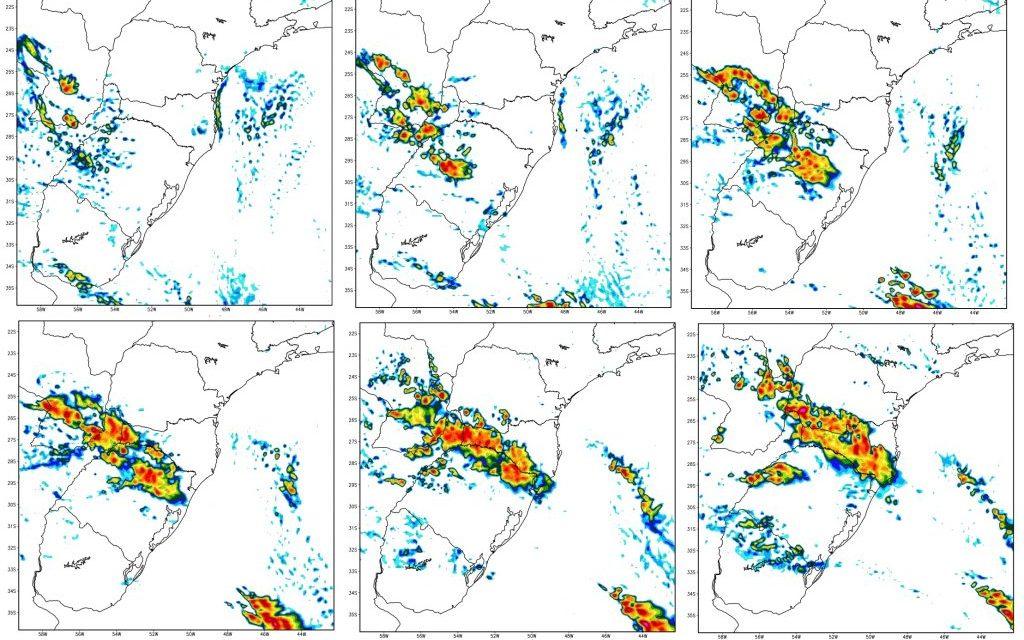 Chuva retorna aos estados do Sul antes de um novo pulso de ar frio