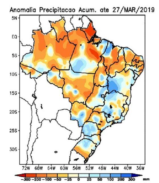 Mês de março teve mais chuva na Metade Norte