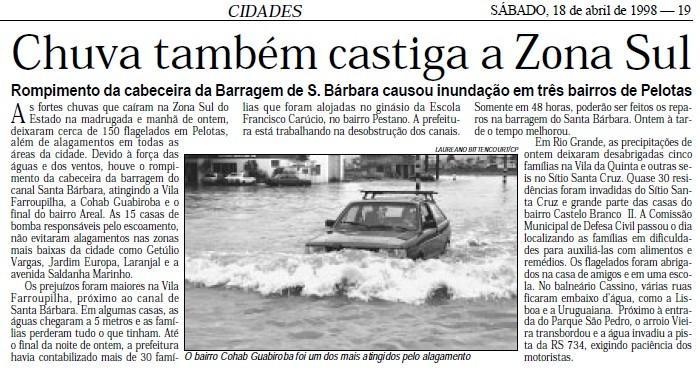 Rio Grande registra maior chuva em abril dos últimos 71 anos