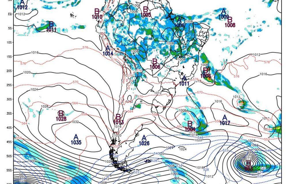 Um ciclone anômalo poderá se formar no fim de semana
