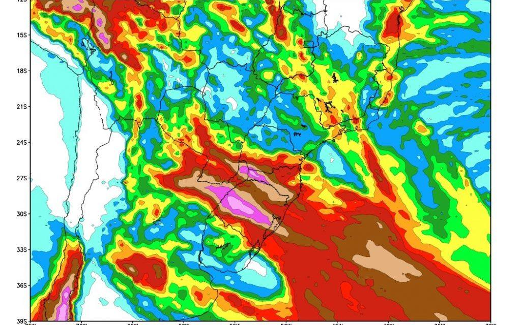 #Agro Muita chuva no Sul do Brasil