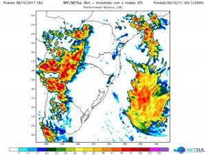 Oeste do Sul do Brasil pode ter temporais isolados no fim deste domingo