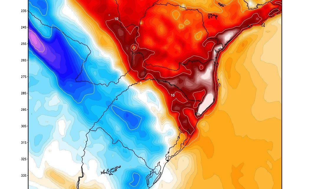 Advertência de calor muito intenso e forte vento Norte