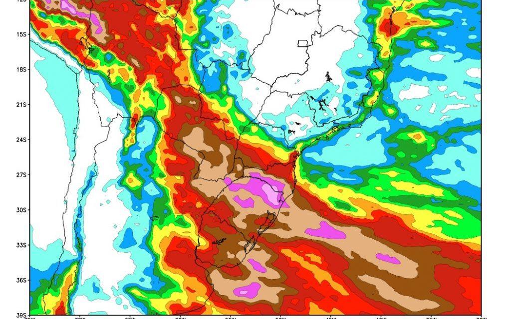 #Agro Análise da chuva no Sul, Centro-Oeste e no Sudeste do Brasil