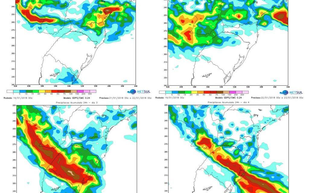 ***ALERTA*** Rio Grande do Sul terá muita chuva e temporais nos próximos dias