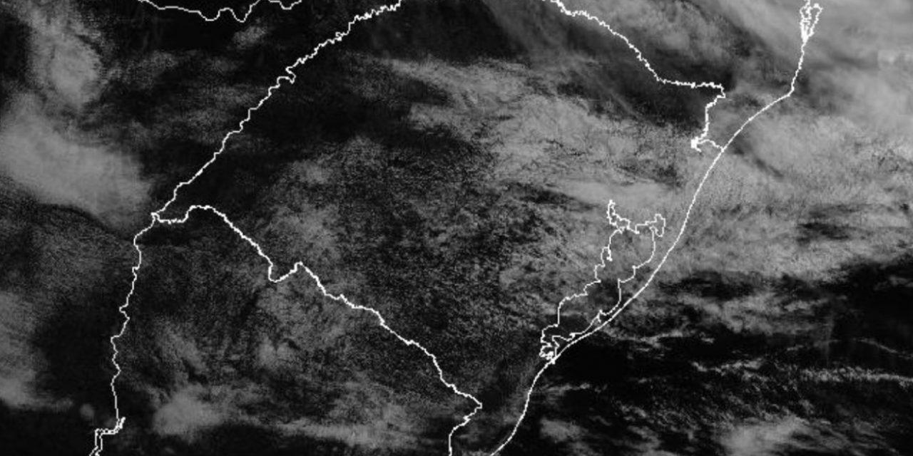 Chuva e garoa hoje em parte do território gaúcho