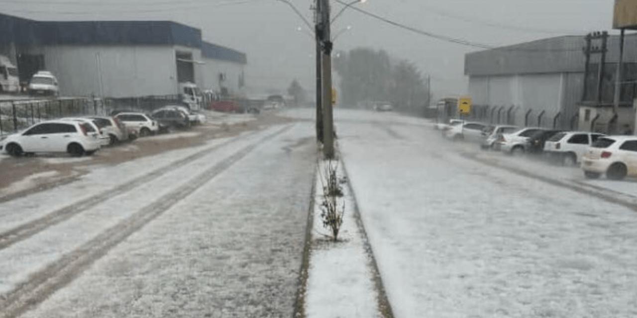 Granizo fez estragos no interior do Rio Grande do Sul