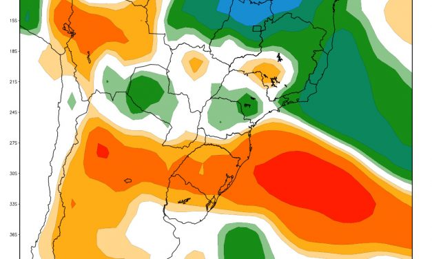 Mapas de chuva para o Centro-Sul do Brasil de janeiro a março