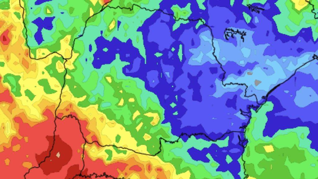 Chuva nos próximos dias será benéfica em parte do Sul do Brasil