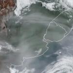 Fumaça da Austrália no céu do Rio Grande do Sul e Cone Sul