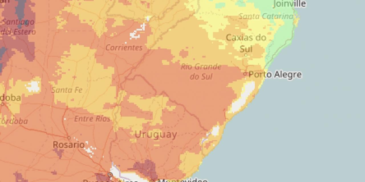 Risco de fogo em vegetação muito alto no Rio Grande do Sul