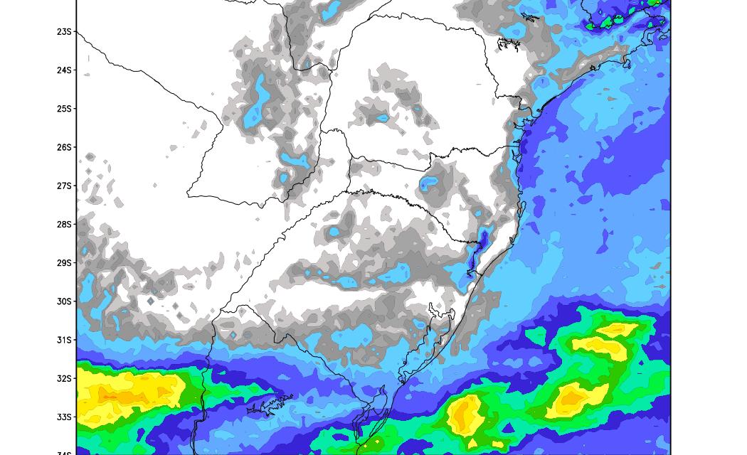 Veja a tendência de chuva no Sul do Brasil nos próximos dias