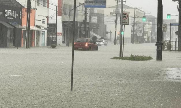 Município catarinense já registra mais de 700 mm em fevereiro