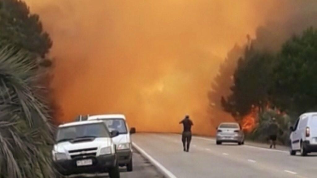 Incêndio atinge um dos principais destinos turísticos do Uruguai