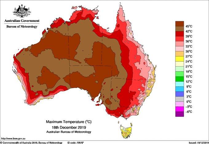 Austrália torra e volta a ter dia mais quente já registrado