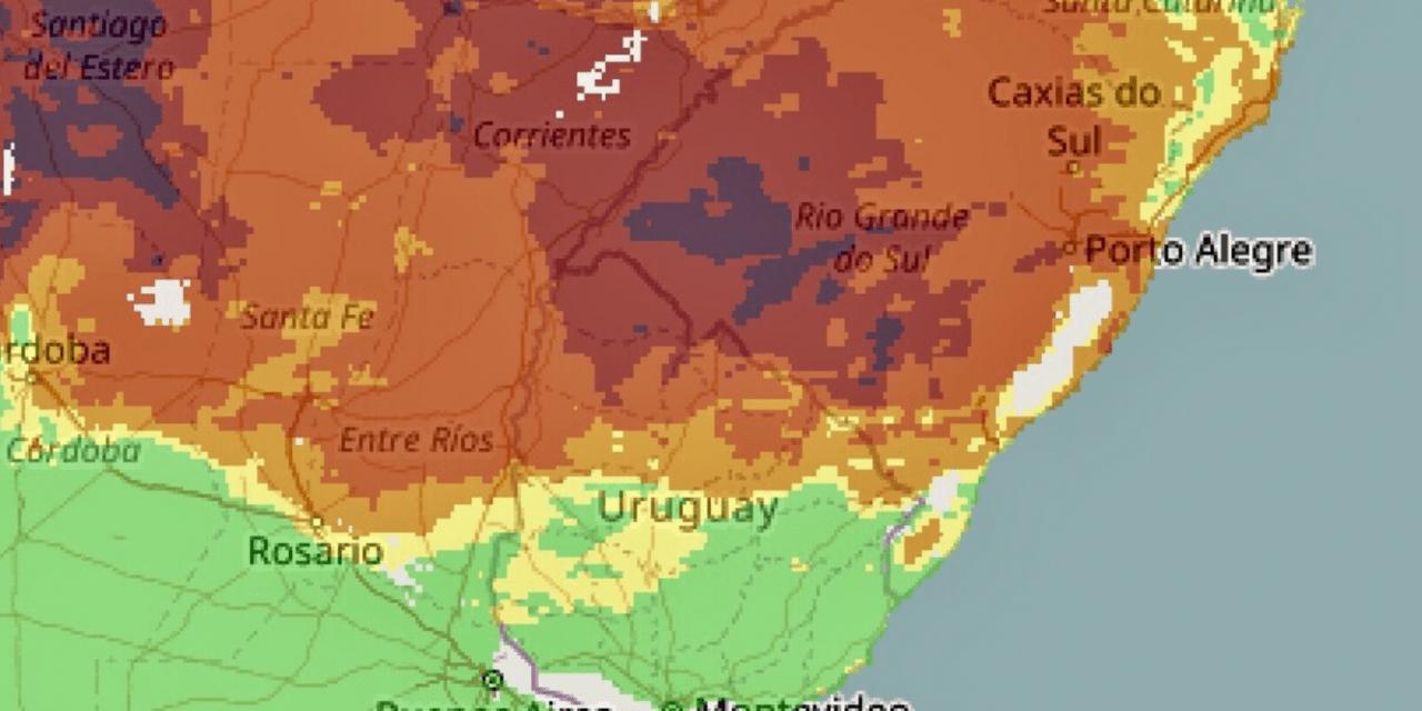 Rio Grande do Sul terá risco extremo de fogo semana que vem