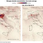 Coronavírus – Crise derruba poluição no Norte da Itália