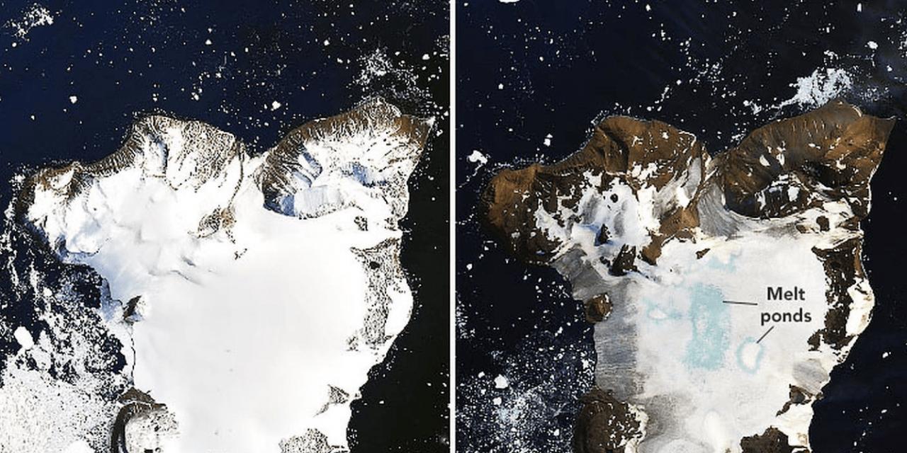 Temperatura alta deste mês traz degelo acelerado na Antártida