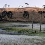 Sábado começou com 0°C no Rio Grande do Sul