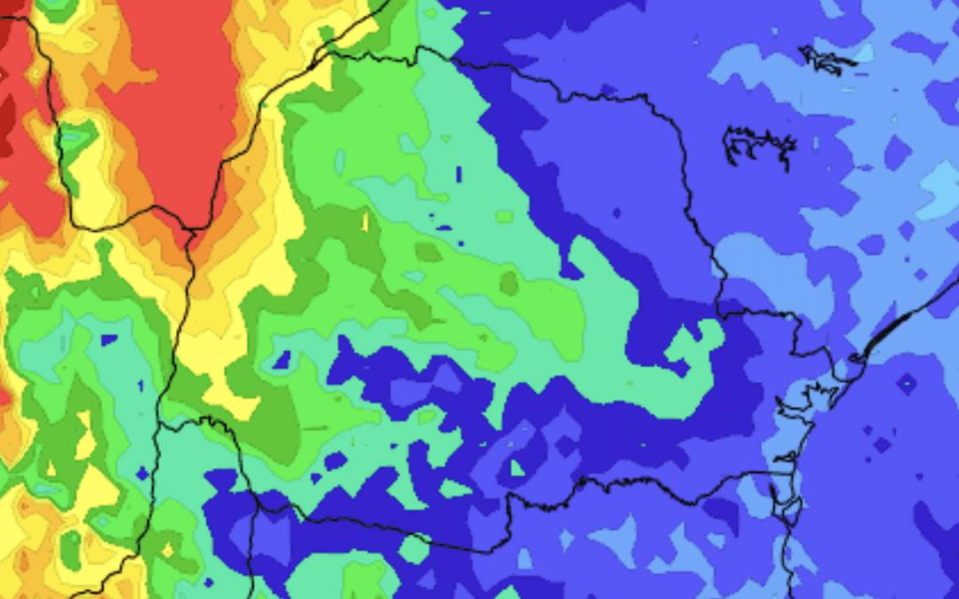 Novo episódio de chuva no Rio Grande do Sul e Sul do Brasil