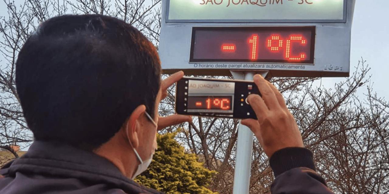 Cinco estados brasileiros com temperatura negativa
