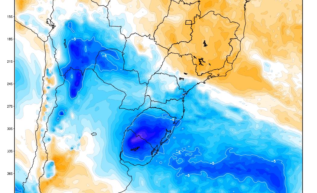 Nova massa de ar frio neste começo de semana