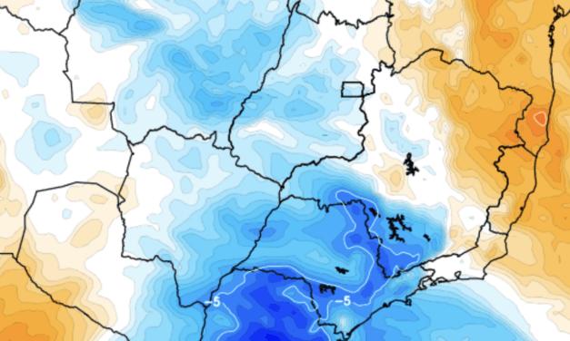 Frio no Sudeste e no Centro-Oeste do Brasil