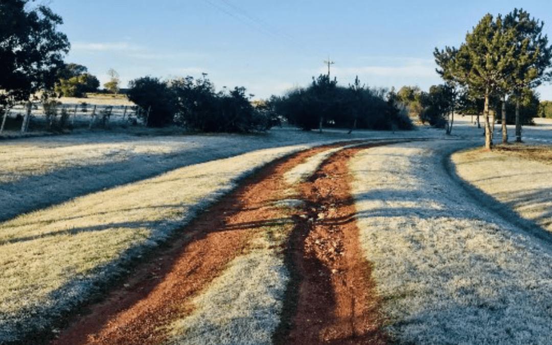 Sexta-feira começou com frio abaixo de zero no Uruguai
