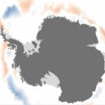 Menos gelo marítimo que a média na Antártida
