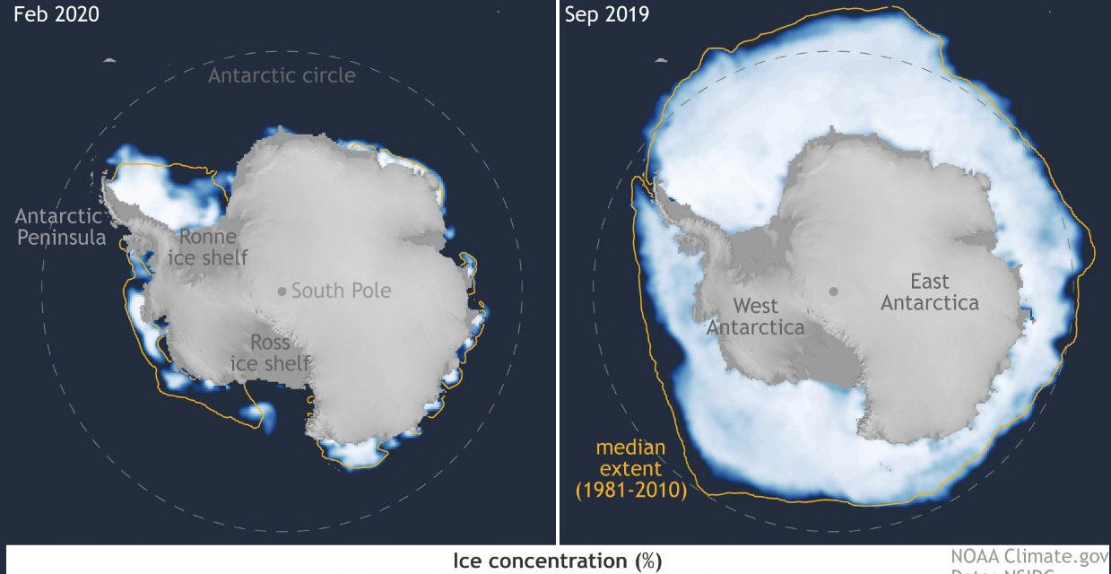 Gelo em mar da Antártida tem redução enorme desde 2016