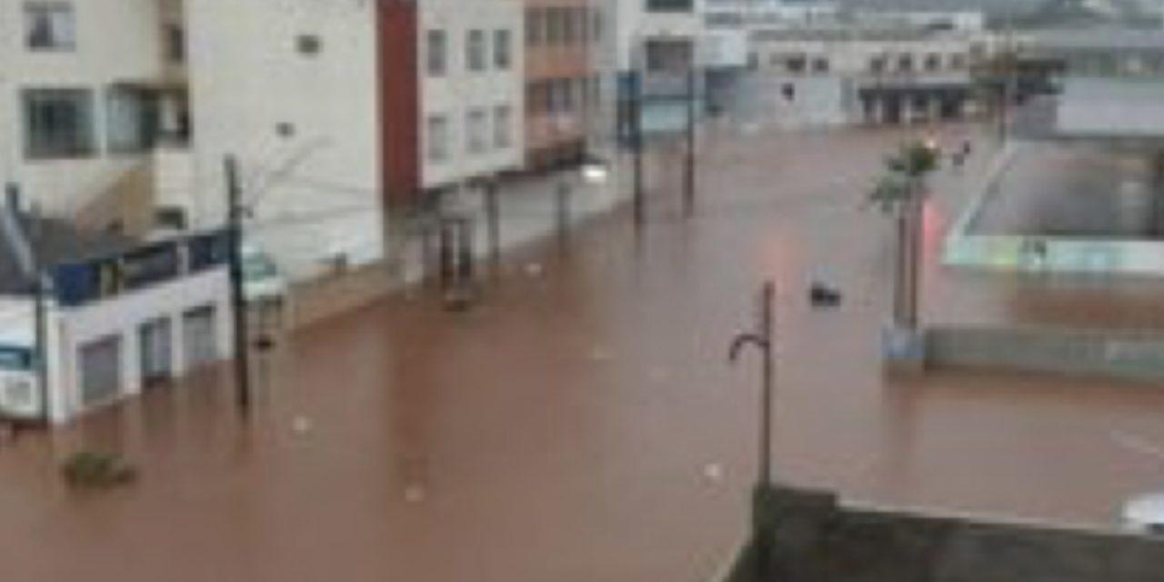 Muita chuva em Santa Catarina e no Paraná