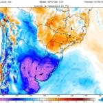 Ar polar e frio intenso no Uruguai