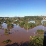 Cheia do Rio Taquari é a terceira maior da história