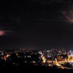 Temporal em Porto Alegre visto a 100 km de distância