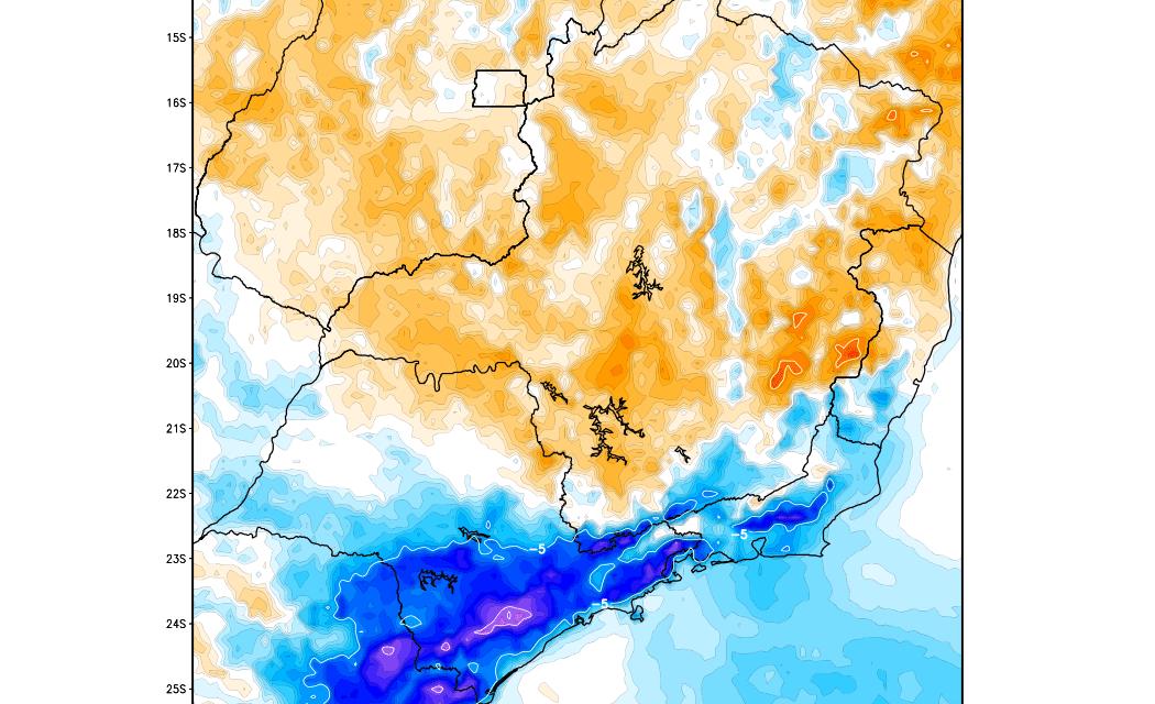 Previsão do tempo – Chuva e forte queda da temperatura em São Paulo e Rio de Janeiro