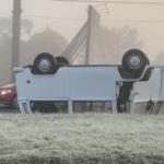Gelo na pista provoca acidentes na Serra Gaúcha