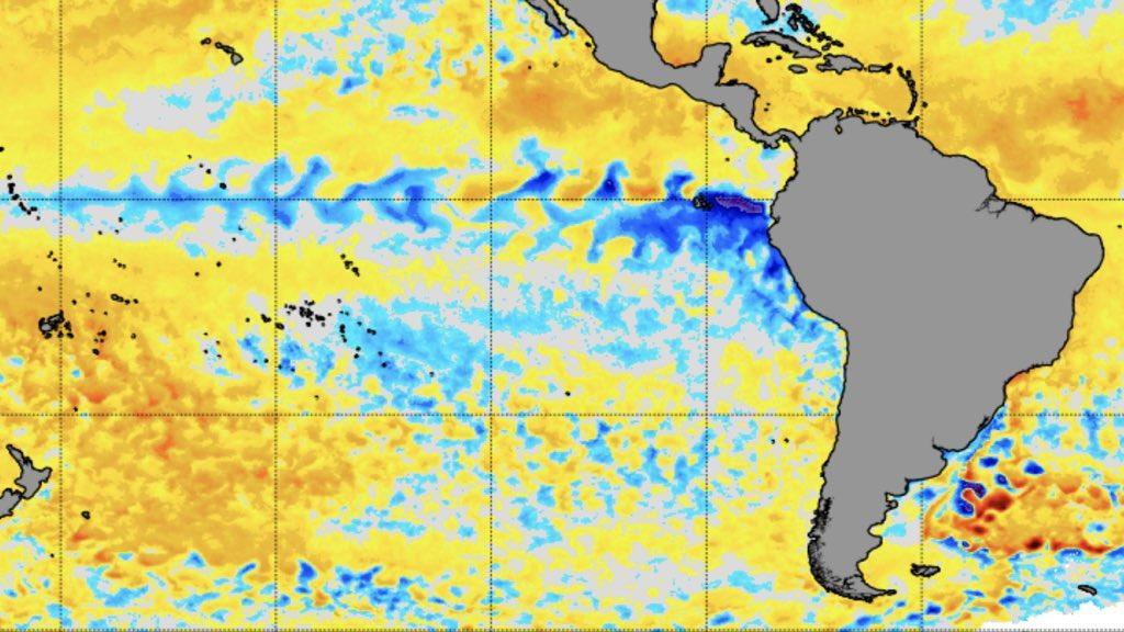 Pacífico ainda em neutralidade e perto do limite de La Niña