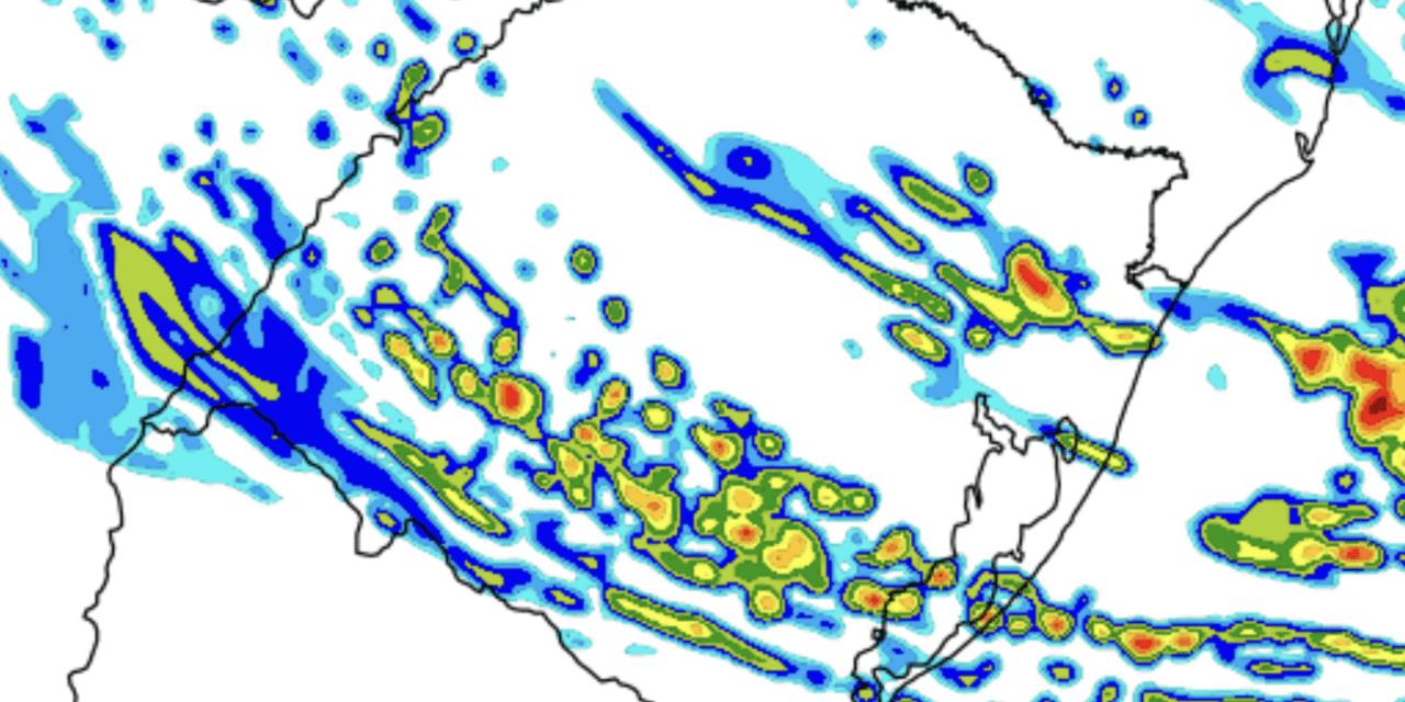 Previsao do tempo – Chuva retorna ao Rio Grande do Sul nesta segunda