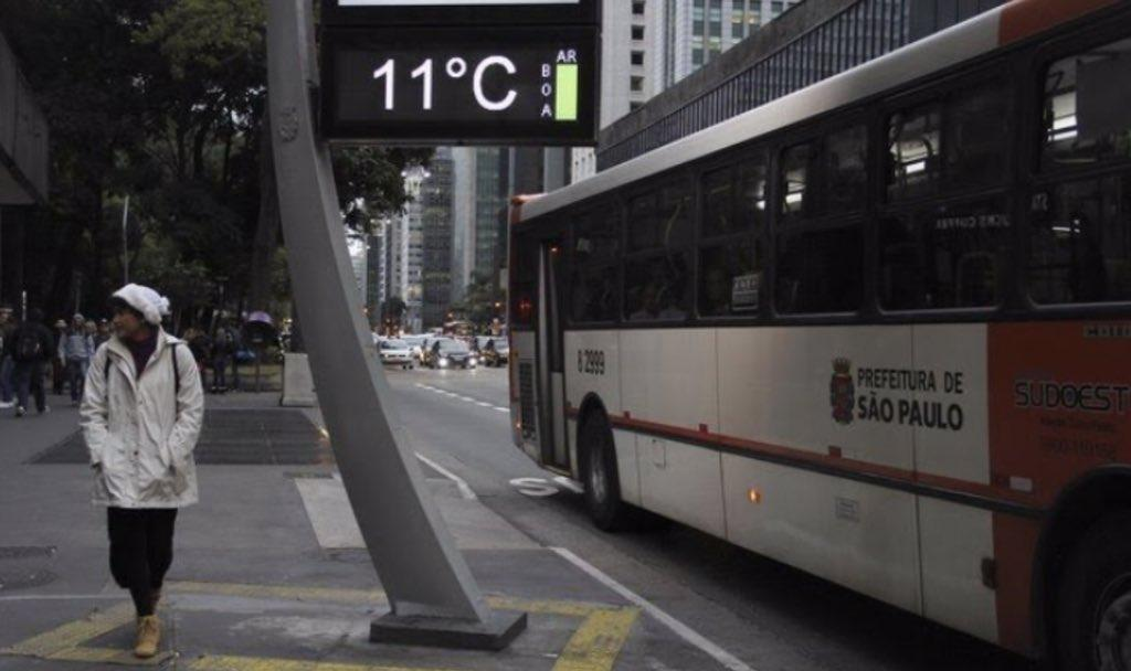 Chuva e frio em São Paulo