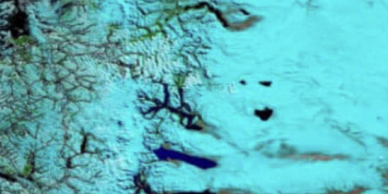 A incrível imagem da Patagônia coberta de neve vista do espaço