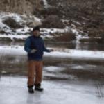 Julho de frio extremo no Sul da Argentina congela rio perto de Bariloche
